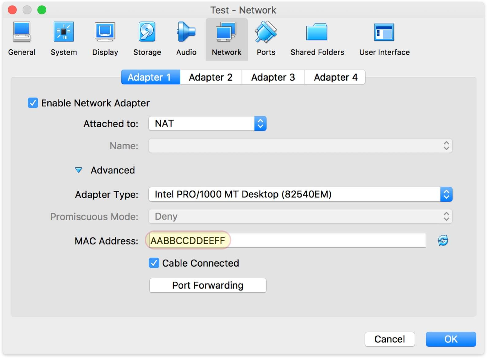However, it's possible to set a custom MAC with any prefix.