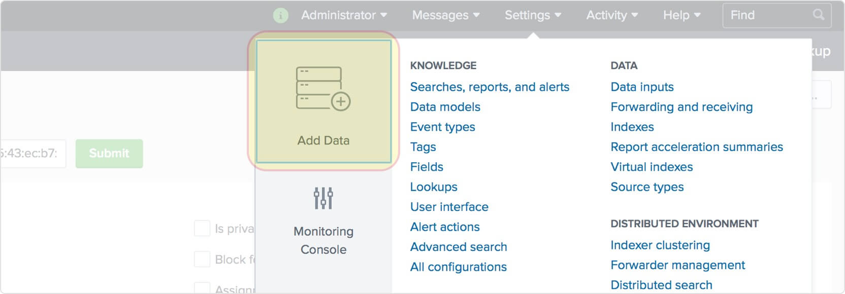 Add data to Splunk.